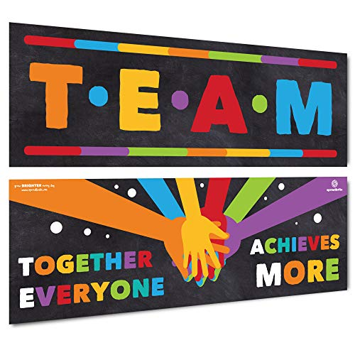 Sproutbrite Classroom Decorations - Banner Posters for Teachers - Team...