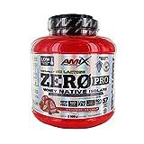 AMIX - Zeropro Protein - Proteína Isolada - Gran Aporte de Aminoácidos - Sin Azúcar - Proteína Natural - Proteínas para Aumentar Masa Muscular - Sabor Fresa - 2 Kg