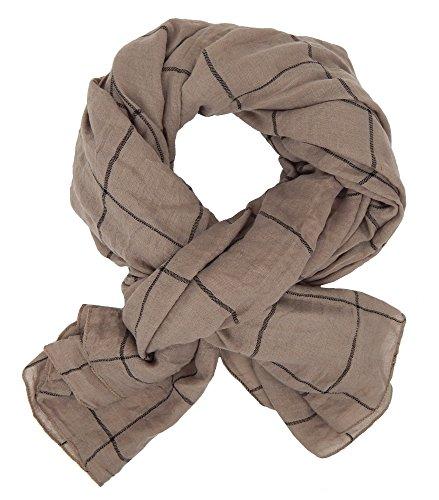 Ella Jonte Écharpes foulard d'homme élégant et tendance de la dernière collection by Casual-style marron noir