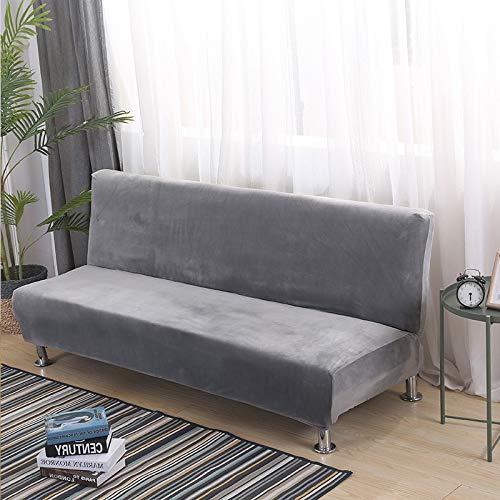 Armlose Sofabezug, Universal Stretch Dick Plüsch Armlose Schlafsofa Sitzbezug, Klappbar Ohne Armlehnen Sofa überwurf, Für Home Hotel (Color 6,L 170-210cm)