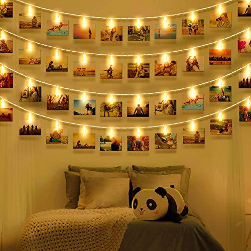 Wellead LED foto clip lucine per la decorazione della stanza immagini clip luci fata cornice decorazione per soggiorno interno casa camera da letto di nozze