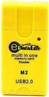 قارئ بطاقات الذاكرة يو إس بي  من إداتا لايف، أصفر