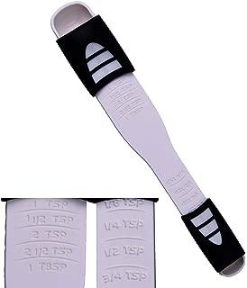 Adjustable Measuring Spoon White,Creative Double End Adjustable Scale, Eight Stalls Measuring Spoon,Measuring Dry/Liquid Ingredients,Metering Spoon for Baking,Cooking,Coffee,Sugar,Salt,Powder.
