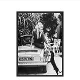 Schwarz und Weiß Berühmte Modell Foto Vintage Bild Kunst