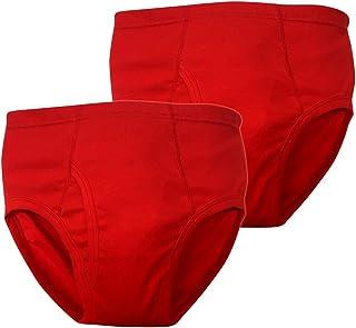 赤パンツの元祖 巣鴨のマルジ 日本製ブリーフ(赤の魔法)綿100%(M/L)