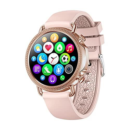 XYZK V25 Smart Watch 1,28 Pollici HD Screen HD IP67 Uomo Impermeabile Uomo e Orologio da Donna Temperatura corporeo Temperatura del Corpo,B