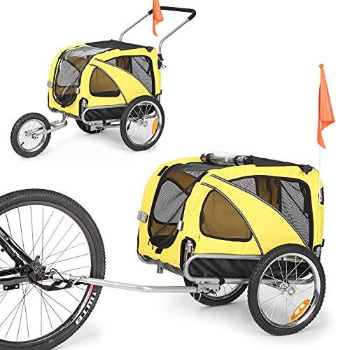 Sepnine & Leonpets Dog cart of 2 in1 Medium pet Dog Bike Trailer Bicycle Trailer and Jogger 10201...