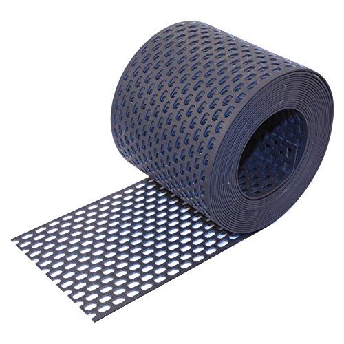 HAUS & DACH Traufgitter PVC schwarz anthrazit 180 mm / 5 m Rolle
