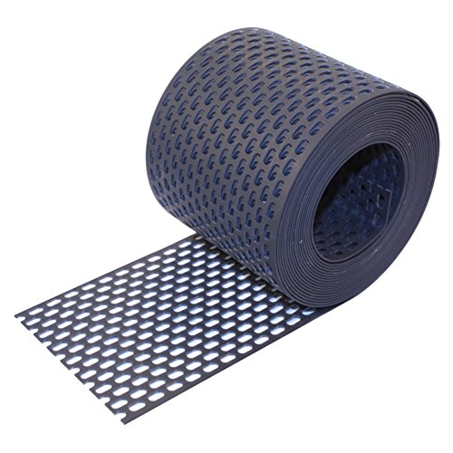 HAUS & DACH Traufgitter PVC schwarz anthrazit 100 mm / 5 m Rolle