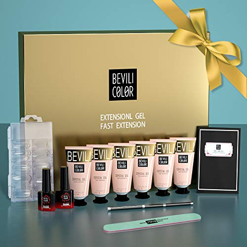 WEVILI Polygel Nail Kit, Builder Gel for Quick Nail Extension Starter Kit and Professional Nail Technician, Manicure Kit for Nail Enhancement