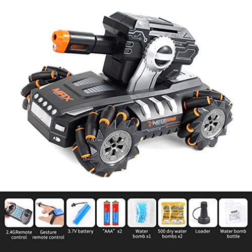 Kinshops UK2075 1:16 Simulation RC Military Tank Launch Water Bomb Armor Interactive Battle 2.4g Watch Drift Remote Control Car