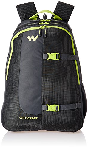 Wildcraft Polyester 36 Ltrs Black School Backpack (WC 4 Latlong...