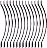 Myard 32-1/4 Inches Aluminum Balusters with Screws for Facemount Railing Fencing, Arc Arch Style (25-Pack, Matte Black)