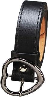 Yinew Love Heart Fibbia Cintura Cintura in Pelle Imitazione Cintura Abito Jeans Accessori Per Donna, Nero