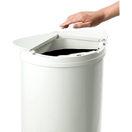 【センサー式 ゴミ箱】DiETZ (ディーツ) 自動開閉センサーゴミ箱 スライド式 自動 自動センサー 自動ゴミ箱 ダストボックス 47L 45Lゴミ袋対応 (オフホワイト)