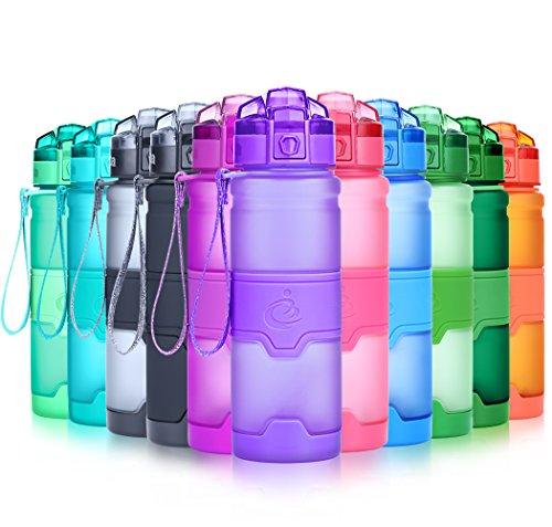 Grsta Bottiglia d'Acqua Sportiva Senza BPA - Riutilizzabile Borraccia in plastica tritan 1000ml/32oz, Ideale Bottiglie per Bambini, Scuola, Ufficio, Bici, Calcio, Fitness, Yoga (Ametista)