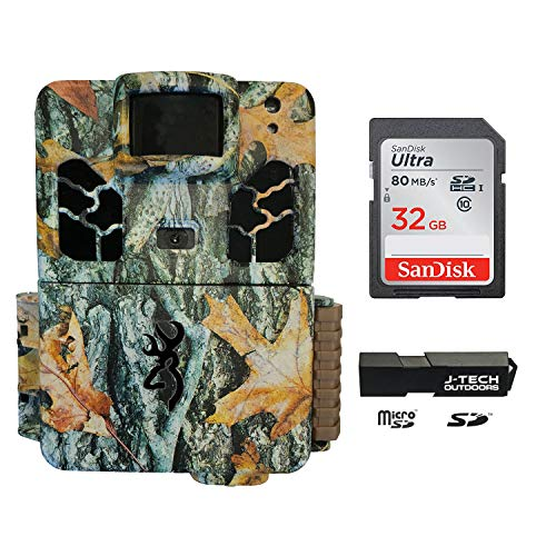 Browning Dark OPS HD APEX (2019) Trail Game Camera Bundle Includes 32GB Memory Card and J-TECH Card Reader (18MP) | BTC6HDAPX