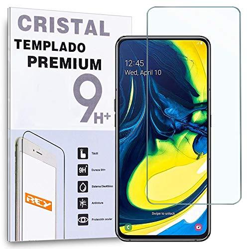 REY - Protector de Pantalla para Samsung Galaxy A80 / Galaxy A90 - Galaxy M11, Cristal Vidrio Templado Premium