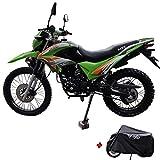 X-Pro Hawk 250 Dirt Bike Motorcycle Bike Dirt Bike Enduro Street Bike Motorcycle Bike with Motorcycle Cover,Green