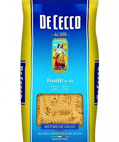 Pasta Fusilli n ° 34di Cecco Bustina 3kg