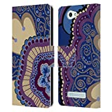 Head Case Designs Offizielle Joan of Art Pink Blume Muster & Drucke Leder Brieftaschen Huelle kompatibel mit Wileyfox Spark/Plus