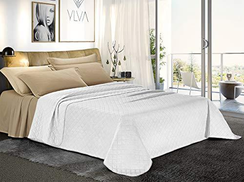 Banzaii Trapuntino, Copriletto Matrimoniale 250x280 cm Bianco/Bianco