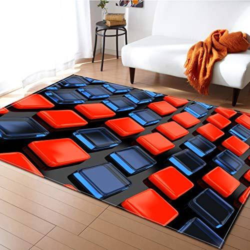 Teppich 3D Bunte weiche einfache Stil Teppiche für Wohnzimmer Schlafzimmer weiche Oberfläche Teppich Haus Bodenmatte Kinderzimmer dekorieren