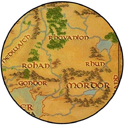 Midden Aarde Kaart - Midden Aarde Collectie (Badge/Magnet/Sleutelhanger Flesopener)
