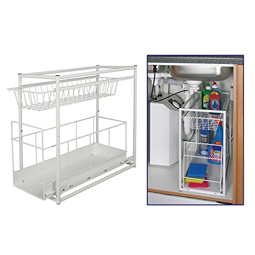 Under Sink Storage Rack Kitchen Unit Bathroom Cupboard Tidy 2 Tier Organiser
