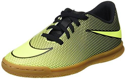 Nike Jr BravataX II IC Fußballschuhe, Schwarz (Black/Volt), 38.5 EU