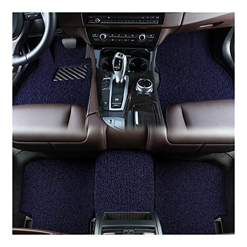 Huilian Mat Auto, Tappetino Antiscivolo Seta Loop Rilievo del Piede for Mazda CX-4 2016 2018 2020 Tappetini Auto (Colore : Blu)