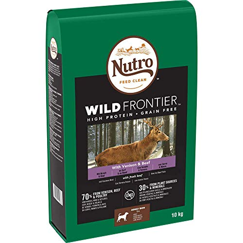 Nutro Dry Wild Frontier Mittelgroße Rassen Wild & Rind Hunde Trockenfutter (10 kg) (kann variieren)