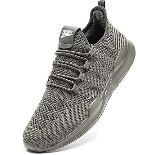 Laufschuhe Herren Turnschuhe Joggingschuhe Leichtgewichts Sneaker Tennisschuhe Fitness Trainingsschuhe Atmungsaktiv Sportschuhe Walking Schuhe Gray 44