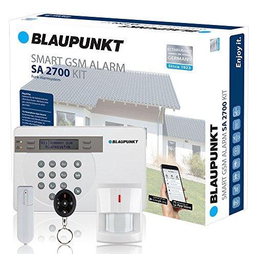 Kit Alarma de Seguridad Blaupunkt SA 2700. SIN Cuotas Mensuales, fácil de instalar, alarma para tu hogar o negocio. Controla tu alarma desde tu Smartphone con la App Gratuita Connect2Home de Blaupunkt.