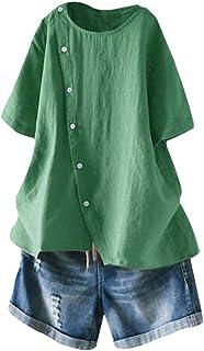 Bluse Tunika Longbluse Streifen Fischerhemd Leinen Optik limette 42 44 46 48