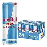 Red Bull Energy Drink Sugar Free 24 Pack of 12 Fl Oz, Sugarfree (6 Packs of 4)