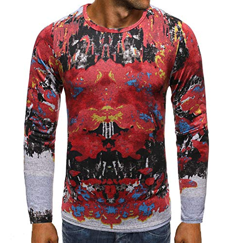 CFWL Hohles 3D-Hip-Hop-T-Shirt FüR MäNner Im FrüHling Und Herbst Fliegerjacke Mit Innentasche Jacke Crew wasserdichte Softshell Jacke Outdoor Funktionsjacke Freizeitjacke Rot S