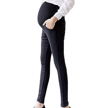 日本ブランドSHIWEI 妊娠のズボン ゆったり マタニティ デニム ストレッチ パンツ スキニー 美ライン産前 産後 カジュアル M~2XL (スタイル2ブラック, XL)