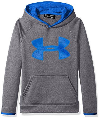 Under Armour Boys' Armour Fleece Big Logo Hoodie,Graphite (040)/Ultra Blue, Youth Medium