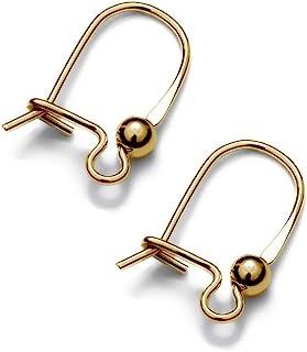 My-Bead Damen Ohrhänger Clips 18mm Gold 925 Sterling Silber 24K doppelt vergoldet nickelfrei Juweliers- Qualität DIY