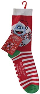 the Red Nosed Reindeer Bumble Christmas Crew Socks for Sizes 4-10