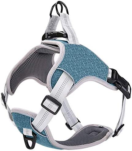 LOCYFENS Dog Harness No Pull Dog Harness Medium Adjustable Step in Harness Safety 360 Reflective product image