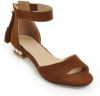 BalaMasa Womens ASL06332 Pu Block Heels