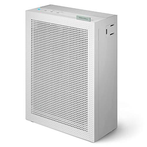 COWAY AIRMEGA 150 Luftreiniger mit GreenHEPA Technologie – Entfernt 99,999 Prozent der Partikel bis zu 0,01 µm*, Viren und Aerosole – ECARF-zertifiziert für Allergiker – Weiß