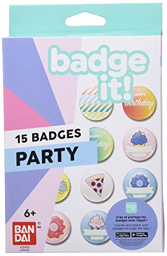 Bandai – Badge It! - Nachfüllpack Party für Badge It! Buttonmaker - Basteln – 35412