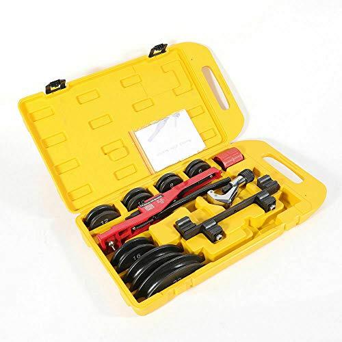 """Curvadora manual de tubos de 6-22 mm, 1/4"""", 5/16"""", 3/8"""", 1/2"""", 5/8"""", 3/4"""", 7/8"""", con caja."""
