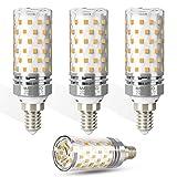 Bombillas LED E14 12W,3000k Blanco Cálido,1400LM,100W Incandescente Bombillas Equivalentes,Pequeño Tornillo de Edison Bombillas LED E14 lámpara ahorro de energía,No regulable - 4 unidades