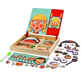 FORMIZON Puzzles de Madera, Juguete de Madera para Niños, Tablero Educativo Pizarra Juguete Puzzles para Niños 3 4 5 Años (B)