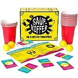 Gutter Games Saufkoffer - Die 8 besten Trinkspiele (Bier Pong, Noch nie Habe ich, Ring of Fire und mehr) | Partyspiel für Erwachsene - ideal für das Vorglühen und den Spieleabend