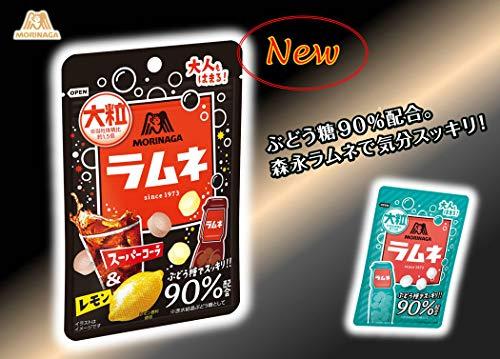 森永製菓大粒ラムネスーパーコーラ&レモン38g×10袋